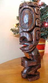 Marquesan Style Tiki with gaping mouth